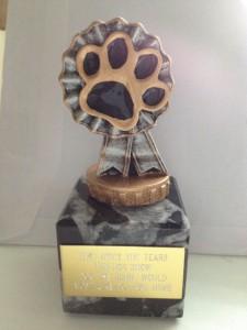 Fun Dog Show Trophy